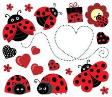 Valentine Ladybugs Theme Image 2