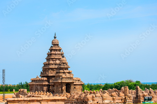 Vászonkép General view of Shore Temple, Mahabalipuram, India