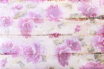 białe drewniane tła z kwiatowym wzorem