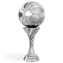 Silver Trophy With Soccer Ball