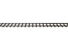 Railway Track. Isolated On Whi...