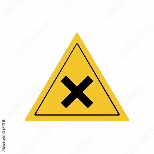 Fotografie, Obraz  Irritant substance sign vector design isolated on white background