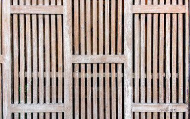 Wood surfaces in a row