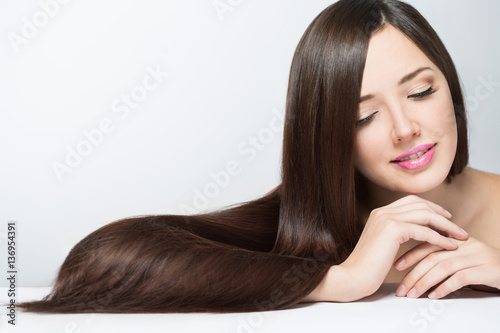 Fotografie, Obraz  woman with long beautiful hair