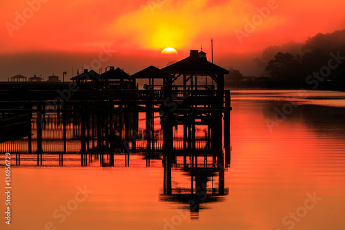 Boat Dock Sunrise