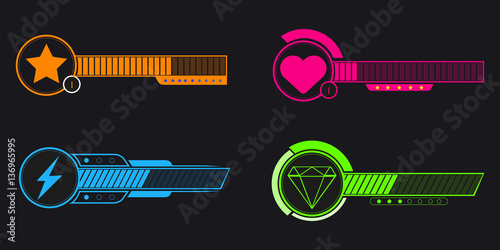 Plakat Video game bars