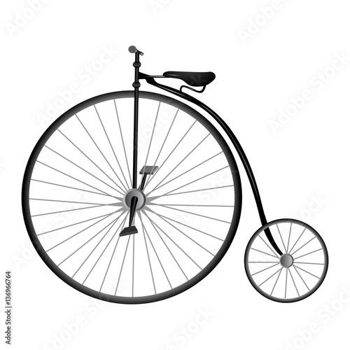 Isolated vintage bicycle © laudiseno
