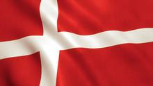 Denmark Flag Waving - Germany Background