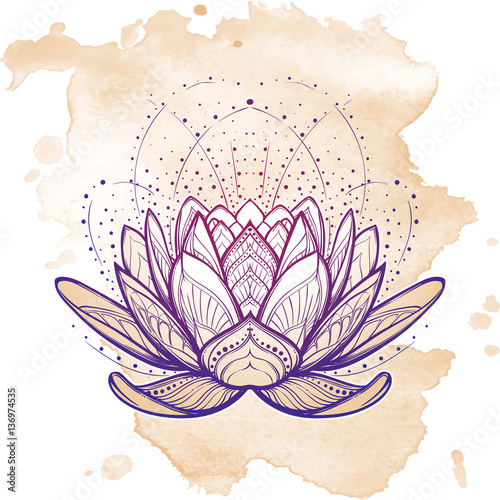 Lotus flower intricate stylized linear drawing isolated on grunge lotus flower intricate stylized linear drawing isolated on grunge background concept art for hindu mightylinksfo