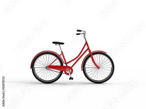 Cadres-photo bureau Velo Vintage bike 3D illustration.