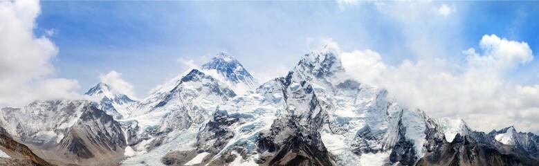himalaya, Mount Everest with beautiful sky