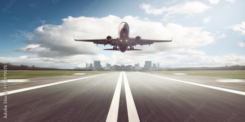 Photo  Airplane starts