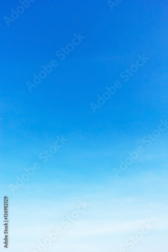 Blue sky background and empty space