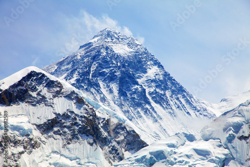 Fényképezés  View of top of Mount Everest from Kala Patthar