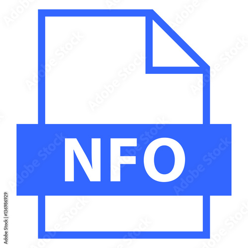 File Name Extension NFO Type - Buy this stock vector and