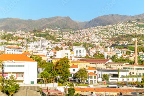 Foto op Aluminium Tunesië Beautiful panoramic view of Funchal, Madeira, Portugal