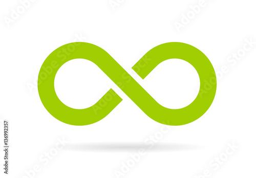Stampa su Tela Green infinity vector symbol
