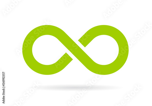 Fotografie, Obraz Green infinity vector symbol