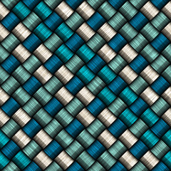 Fototapeta Seamless rope weave pattern