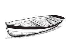 Hand Drawn Boat Sketch.