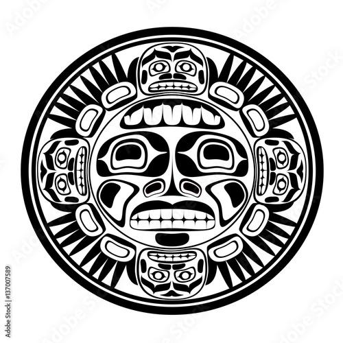 Photo  Vector illustration of the sun symbol.