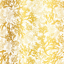 Vector Gold And White Seaweed ...