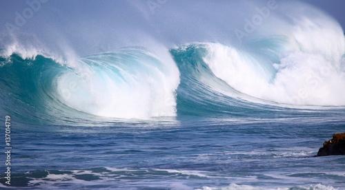 Stickers pour porte Eau North Shore Winter Waves