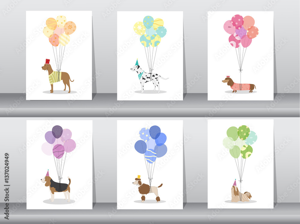 Design Of Cute Animal Cardspostertemplategreeting Cardssweet