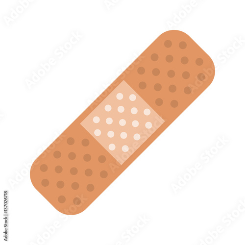 medical plaster bandage adhesive vector illustration eps 10 Canvas Print