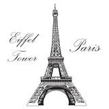 Fototapeta Fototapety z wieżą Eiffla - Vector hand drawing illustration Eiffel tower