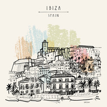 Old Town In Ibiza, Spain, Euro...