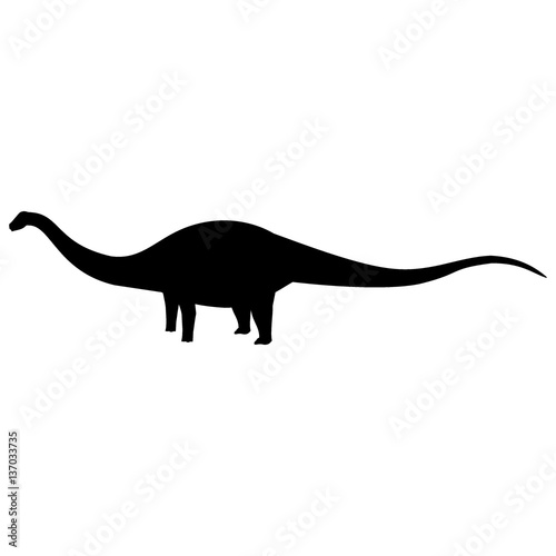 Photo  Apatosaurus Silhouette