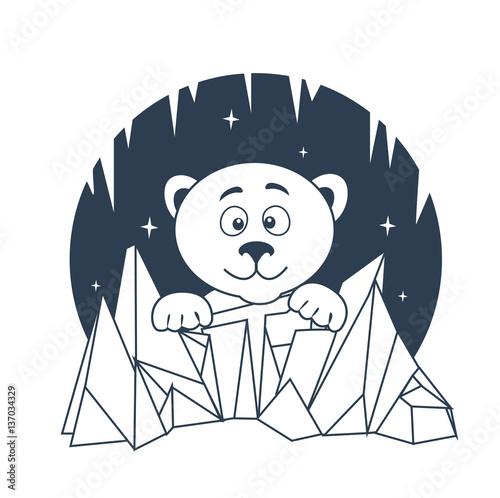 Fotografía  icon Polar Bear night