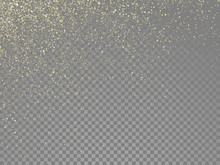 Glow Gold Particles Vector Sta...
