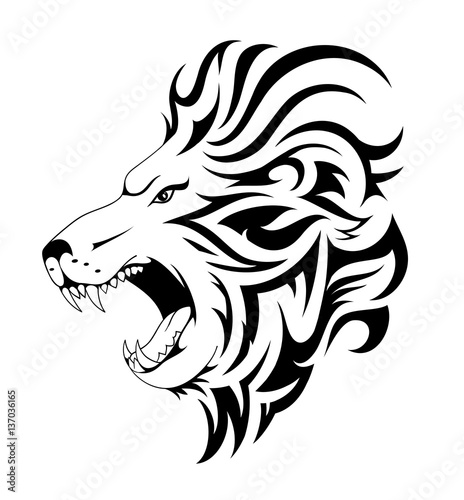 4f8517a7a Lion tribal tattoo design - Buy this stock vector and explore ...