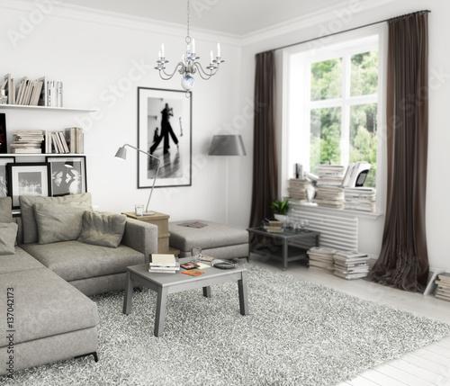 Bucher Im Wohnzimmer Einrichtung Und Dekoration Kaufen Sie Dieses