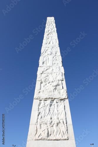 Fotografia Guglielmo Marconi obelisk in Rome, Italy