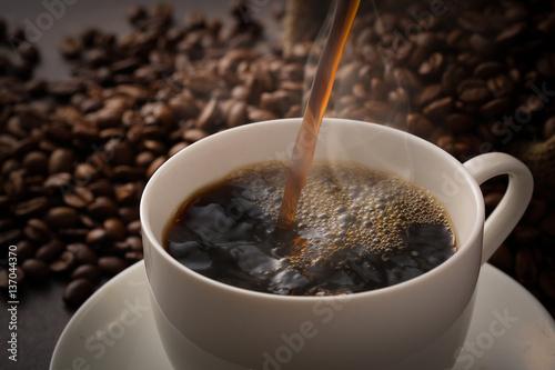 Wall Murals Cafe コーヒーを注ぐ