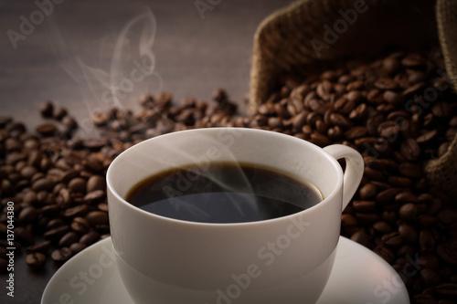Fotobehang Koffiebonen ホットコーヒー