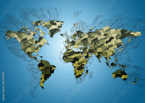 Naklejki dekoracyjne abstrakcyjna mapa świata