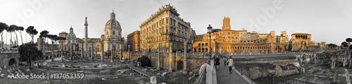 Zdjęcie XXL Panorama Imperial Forum Rome sw Col 180 stopni