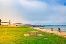 Golden Gate Bridge With Fog Fr...