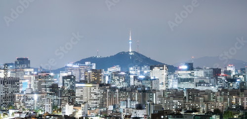 Photo  cityscape and skyline of seoul