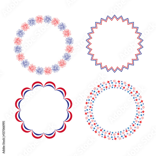 Red White Blue Circle Frames Buy This Stock Illustration And