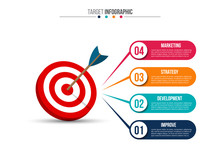 Infographic Template With Targ...