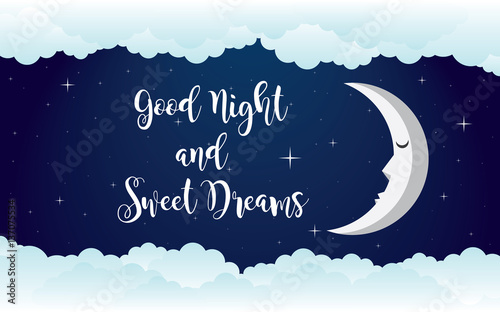 Fotomural  good night illustration vector design