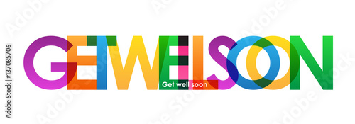 "Vászonkép  ""GET WELL SOON"" Vector Banner"