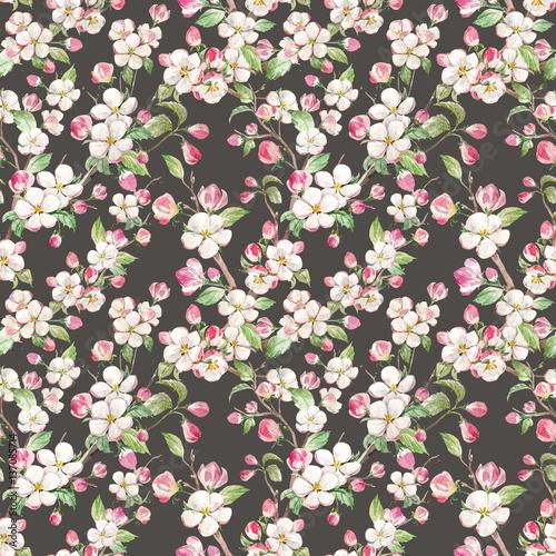 akwarela-wiosna-kwiatowy-wzor