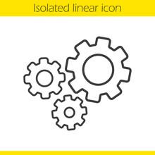 Cogwheels Linear Icon