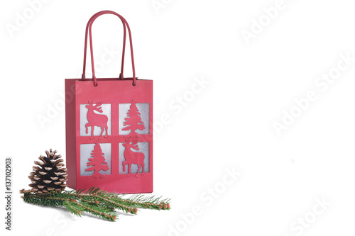 Christmas Spending.Christmas Spending Theme Isolated On White Background With